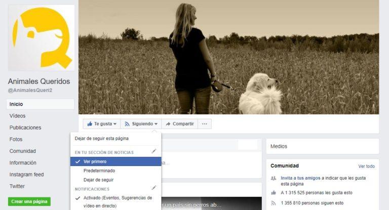 ¿Qué hacer para no perderte las publicaciones de Animales Queridos tras los cambios de Facebook?