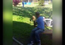 Increíble reacción de un perro que se reencuentra con su amo que perdió 50 libras