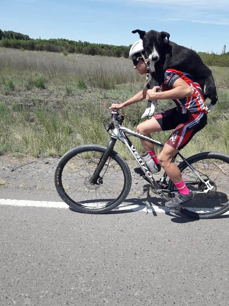 Ciclista se detiene para ayudar