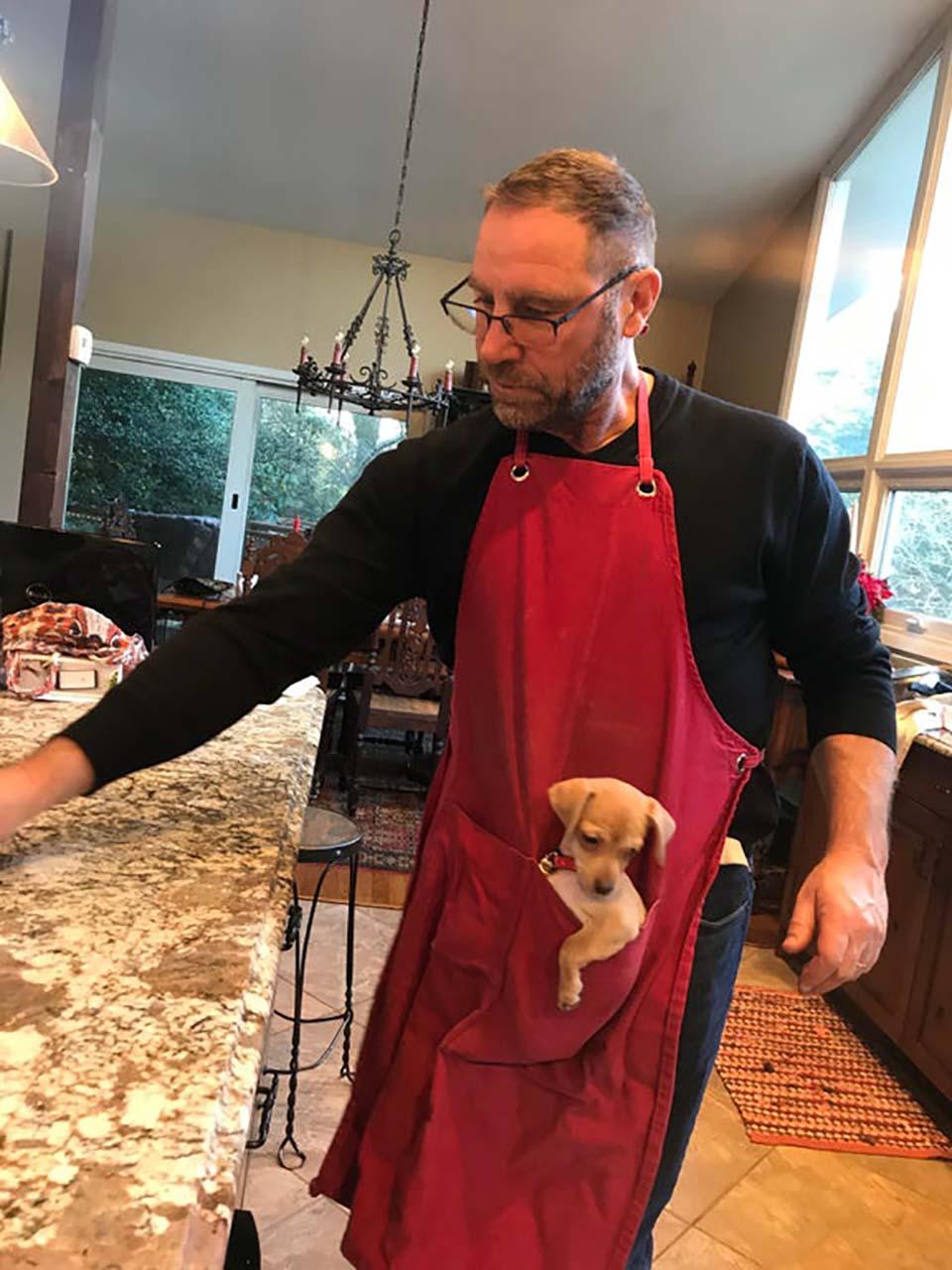 Papá y su mascota