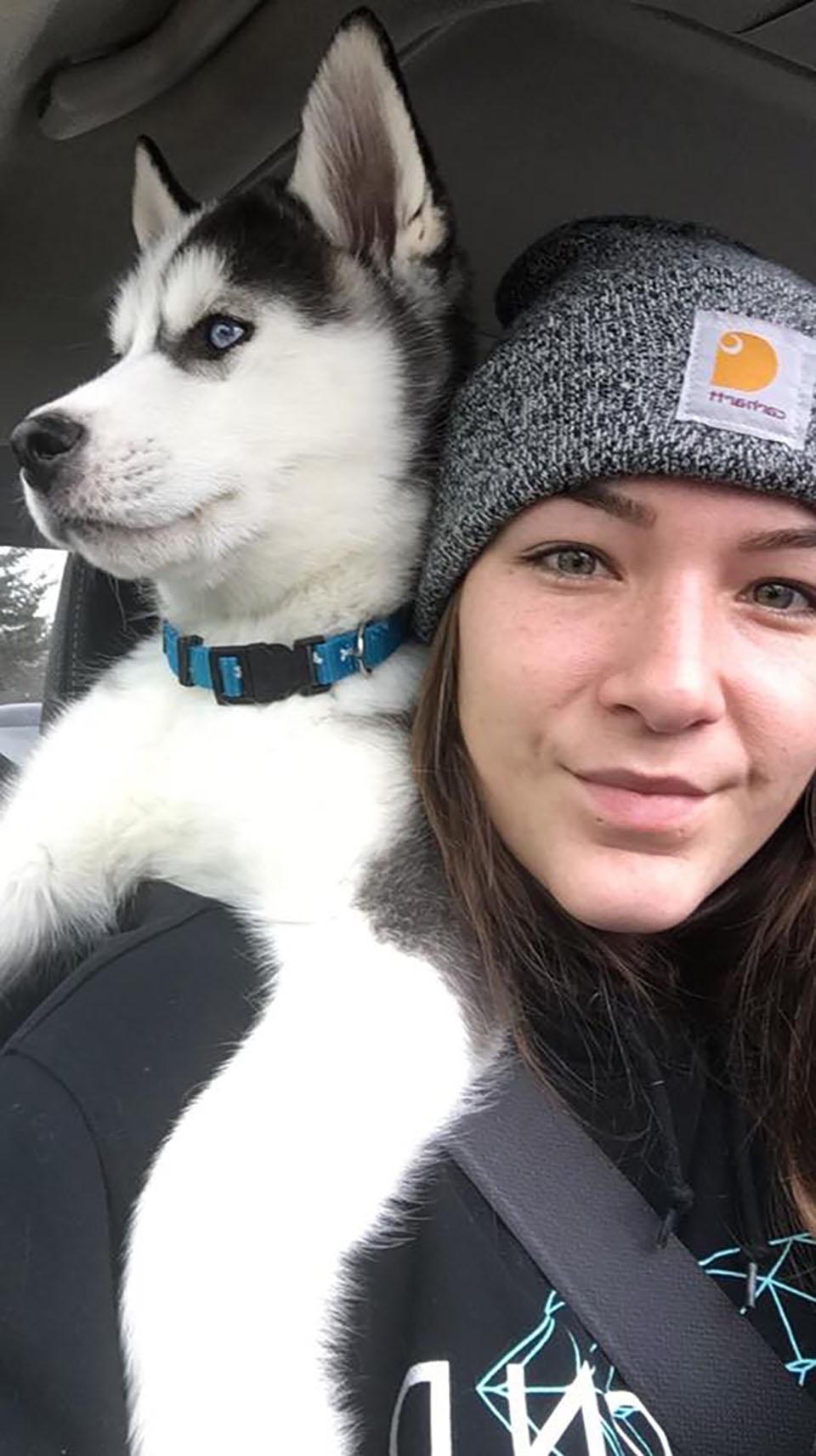 Perro y su humana