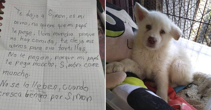 Niño escribe emotivas cartas a su perro