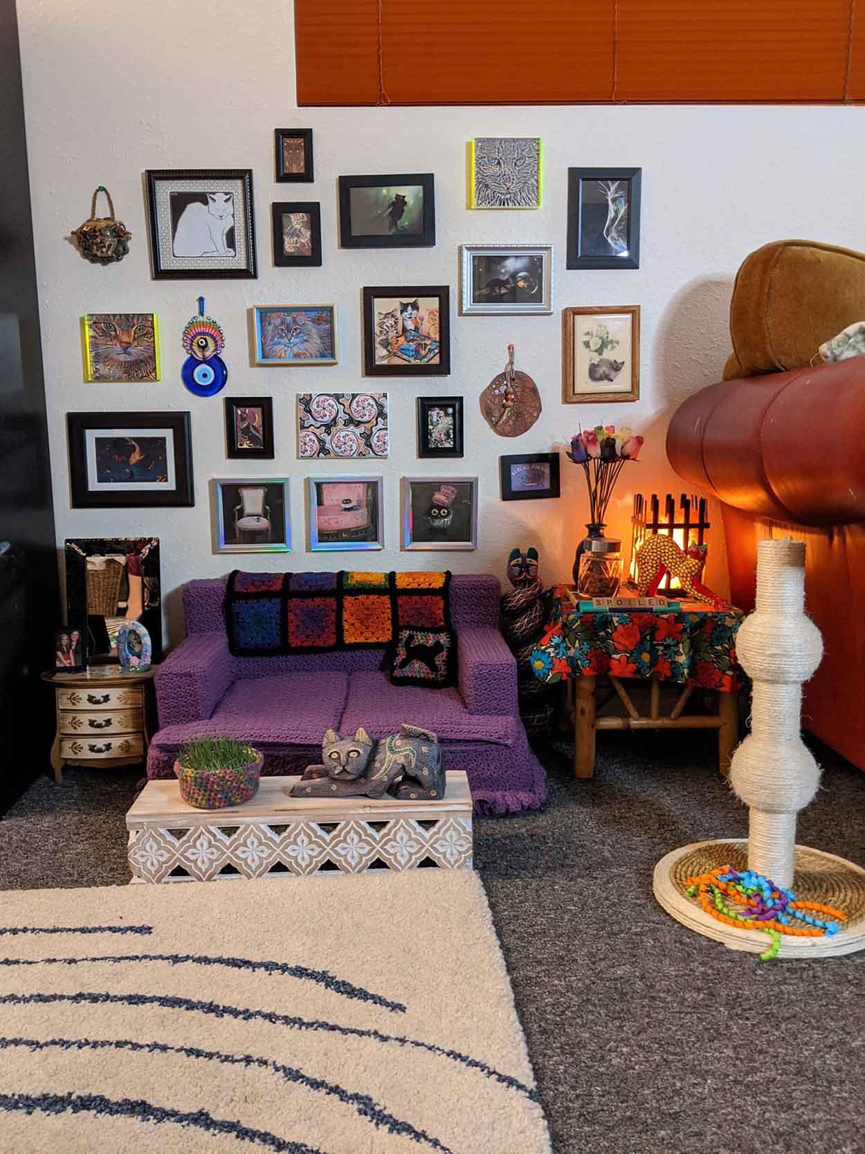Sala de estar más adorable solo para sus gatos